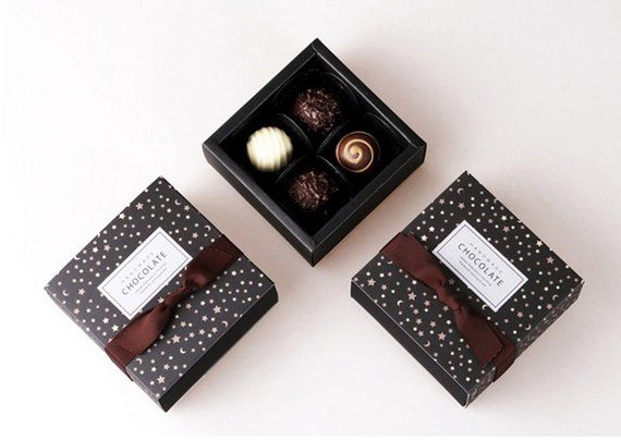 Baking Boxes Chocolate Boxes Small Box Brown For 4 Chocolate Fashion Gift Box Chocolate Gift Boxes Valentines Day Chocolates