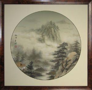 Sinke Art Foggy forest by Vyacheslav Sinkevich #vyacheslavsinkevich #sinke_art #japanesepainting