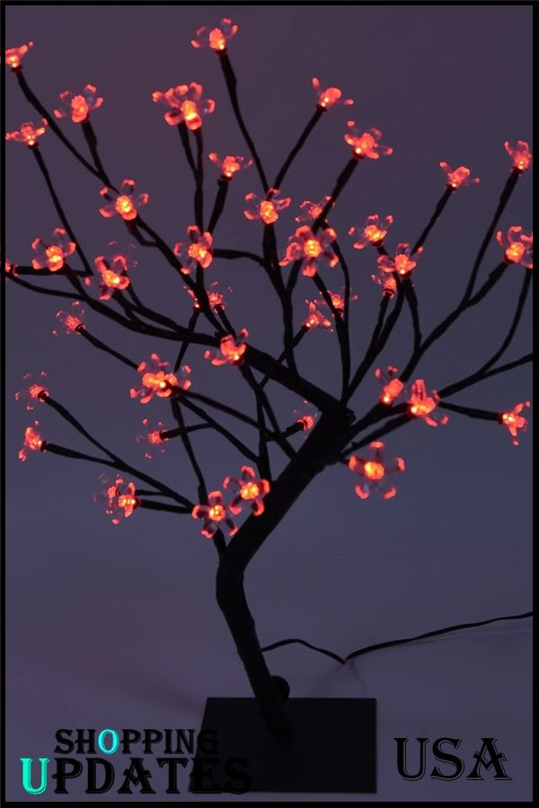 Night Light Cherry Blossom Bonsai Tree Night Light Bonsai Tree