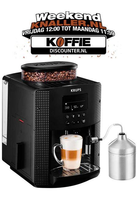 Krups EA8160  Krups EA8160: Ideale volautomaat met melkfunctie Met de Krups EA8160 kun je alle kanten op.Hij is namelijk zo compact dat hij in iedere keuken past.Maar afmetingen zeggen niet alles in dit geval de EA8160 is dan wel zeer compact maar heeft alles in huis om jou keer op keer een heerlijke koffie te serveren.Met het automatische cappuccinosysteem maak jij altijd een heerlijke cappuccino of latte.De Krups EA8160 is altijd snel klaar voor gebruik dankzij het Compact Thermoblock…