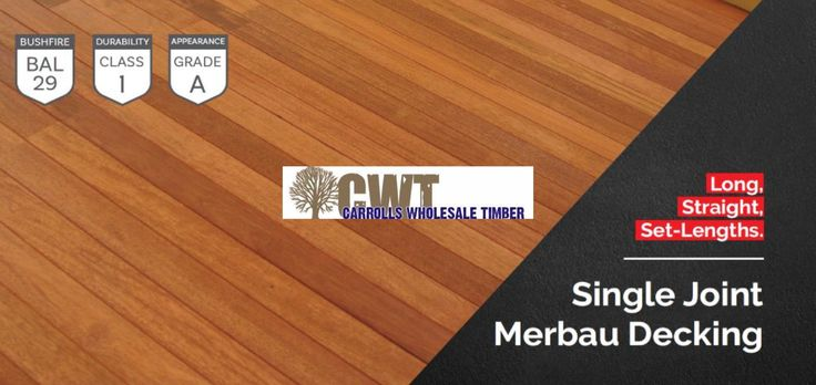 Long length solid Merbau decking available now