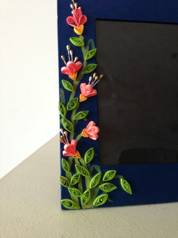 Quilling flower photo frame. for$15