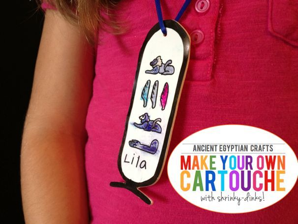 explore ancient egypt: make a shrinky dink cartouche - (cool) progeny