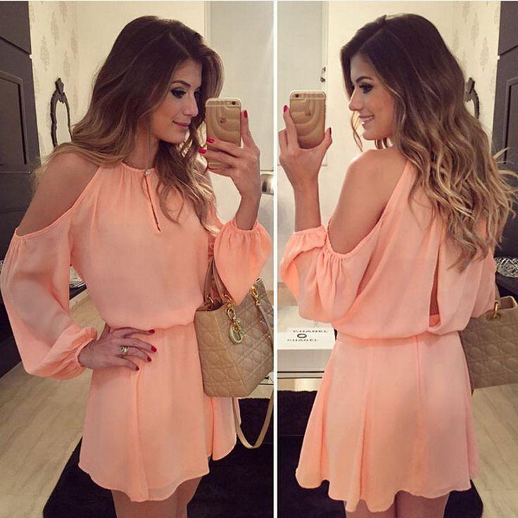 Long-sleeved chiffon strapless dress fashion