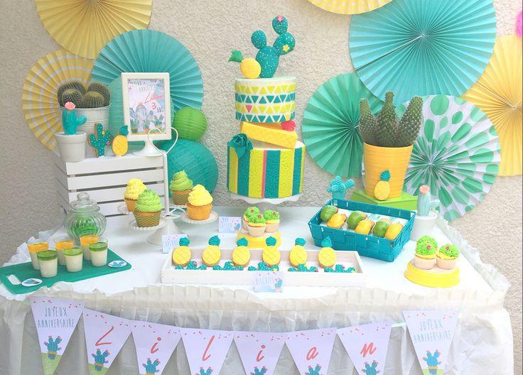 Cactus Party pour Lilian 3 ans à retrouver sur le shop