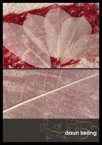 Kerajinan tangan dari daun mangga, skeleton leaves