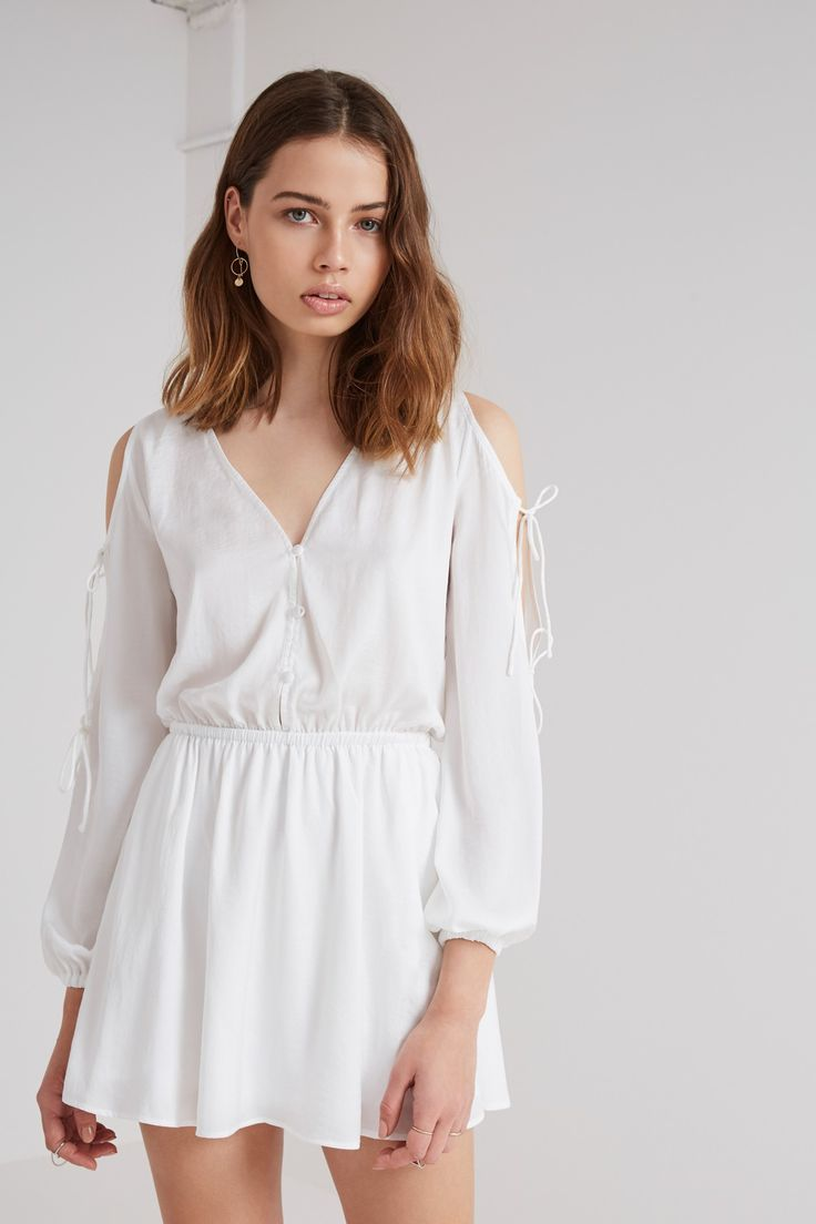THE FIFTH - The Nightingale Long Sleeve Dress - White