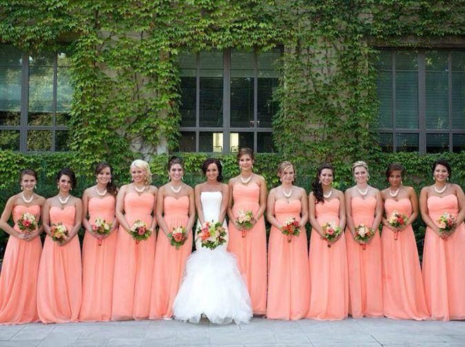 Jasmine B2 Tangerine Bridesmaid Dresses