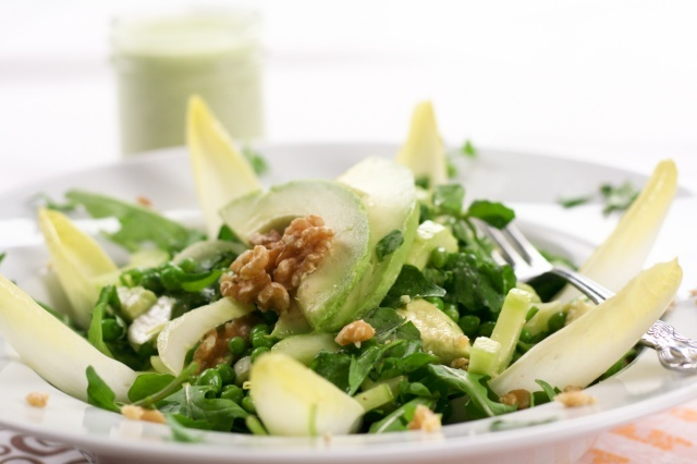 ... seed dressing avocado and cantaloupe salad with creamy french dressing