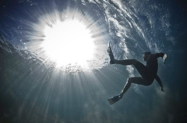 Mark Tipple's The Underwater Project captures fallen surfers and swimmers.