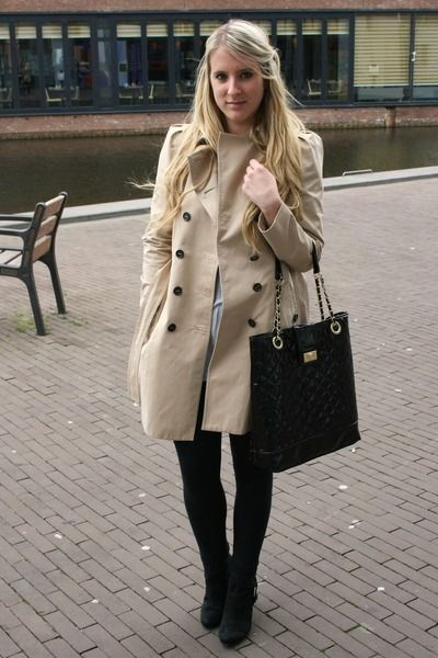 trench Zara coat - Primark bag
