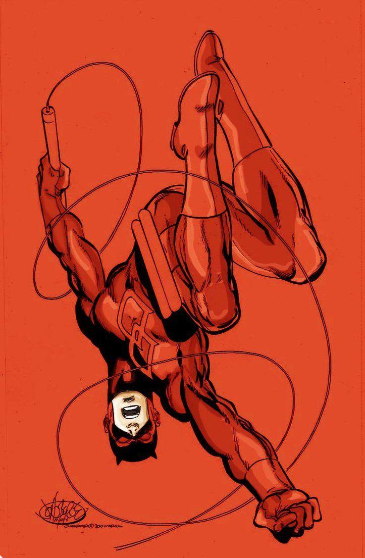 Daredevil by John Byrne, colours by namorsubmariner on DeviantArt