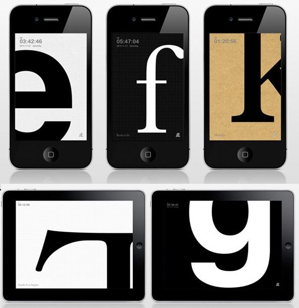 TypeClock app for iphone & ipad: Typeclock App, App Design