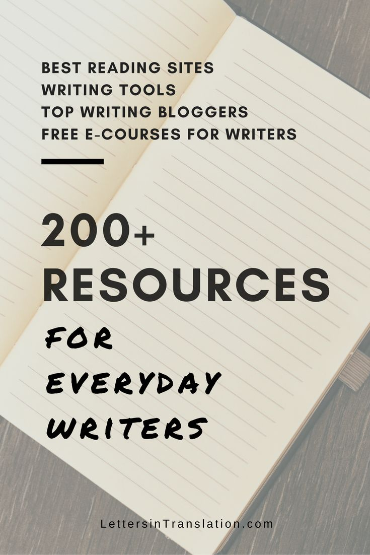 Free Resources for Everyday Writers - Letters in Translation   Here are the full list of writers' resources. Enhance your daily writing practice, keep up with good reading habit and use the best writing tools for your best work today.