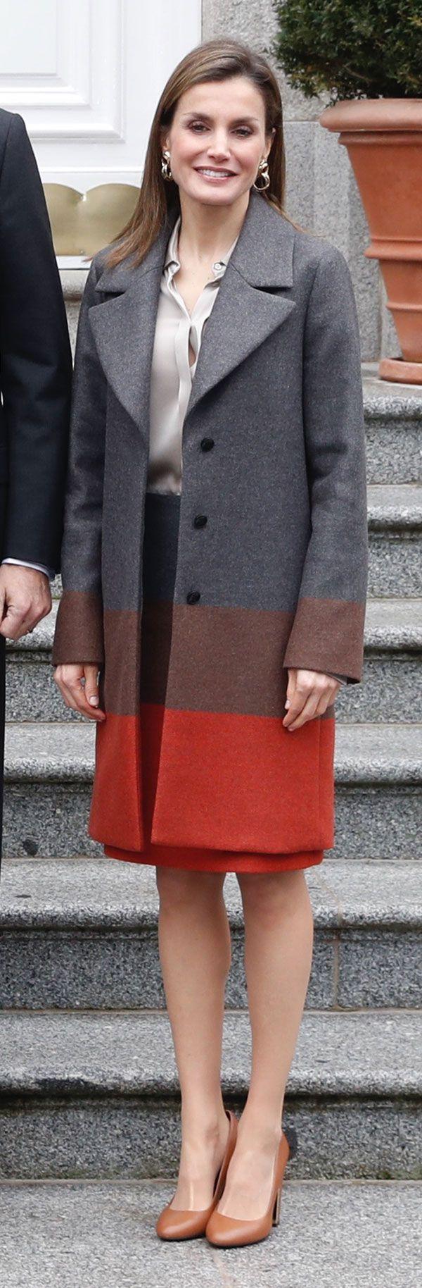 Don Felipe & Doña Letizia han recibido al presidente de Alemania, Joachim Gauck, y su esposa, Daniela Schadt, invitados a palacio para almorzar. 1 febrero 2017