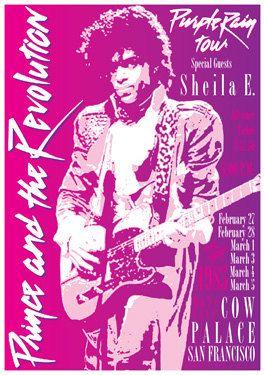 PRINCE 27 February 1985  san Francisco  live show by tarlotoys, €15.00