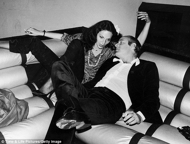 DVF and Barry Diller pictured at Studio 54 in the Seventies.