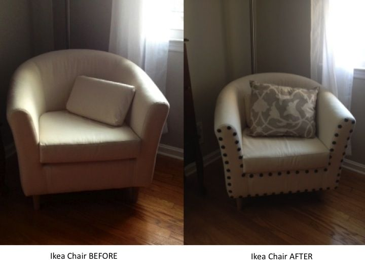 Beautiful Add Upholstery Nails To An Inexpensive Ikea Chair To Add Elegance