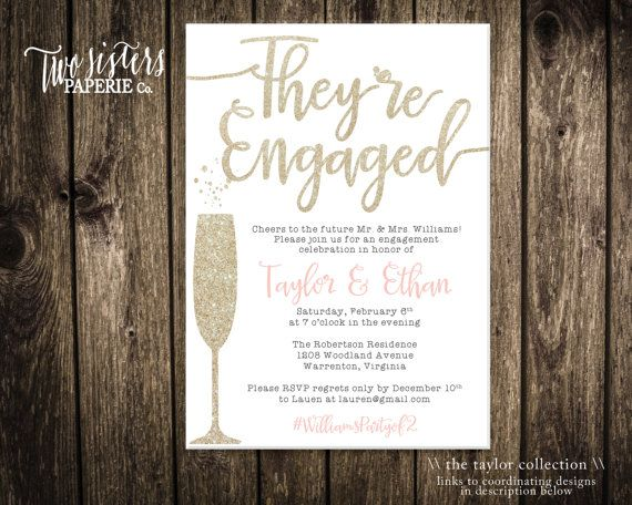 The  Best Engagement Party Invitations Ideas On