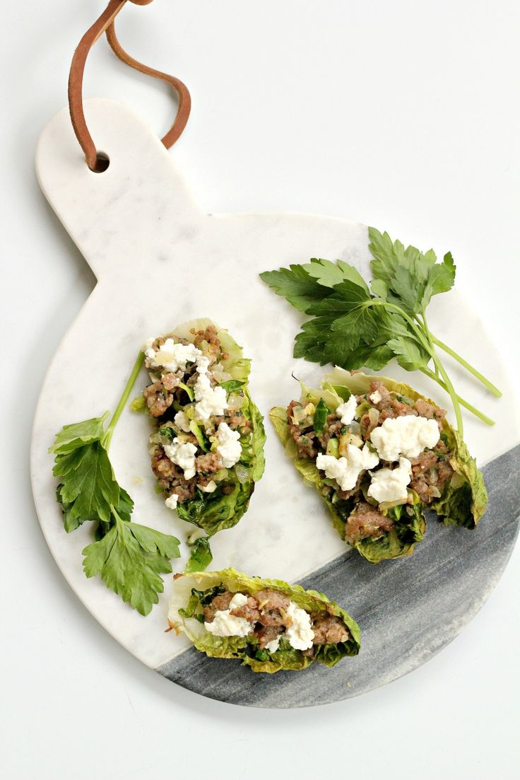 Paleo Lettuce Wraps with Sausage & Brussel Sprouts | Bravo For Paleo