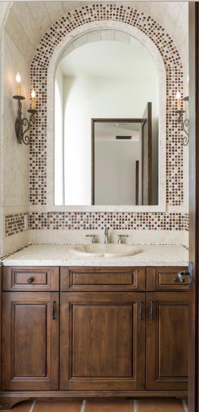 Find Inspiration About Bathroom Mirror Ideas For Your Home Bathroom Mirror Ideas Bathroom Mirror Spanish Style Bathrooms Spanish Home Decor Tuscan Bathroom