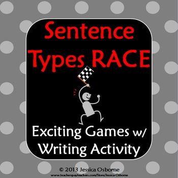 Sentence Types Race Game! Simple, compound, and complex sentence structure has never been so fun! This exciting whole class game has three rounds of complexity. You will also receive a writing practice sheet and game extension!**Download the FREE PREVIEW to see every page more closely!**INCLUDED:-Detailed Teacher Directions-Game Sheet (groups race to be the first to correctly identify each sentence)-Round Two Display Sheet (groups race to be the first to correctly identify the subjects and…