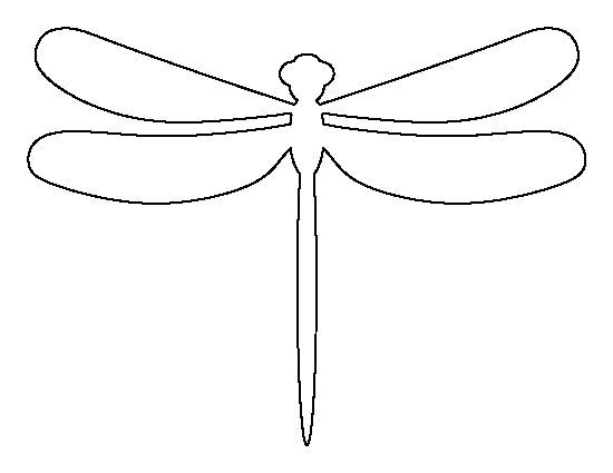 Dragonfly pattern. Use the printable outline for crafts, creating stencils, scrapbooking, and more. Free PDF template to download and print at http://patternuniverse.com/download/dragonfly-pattern/