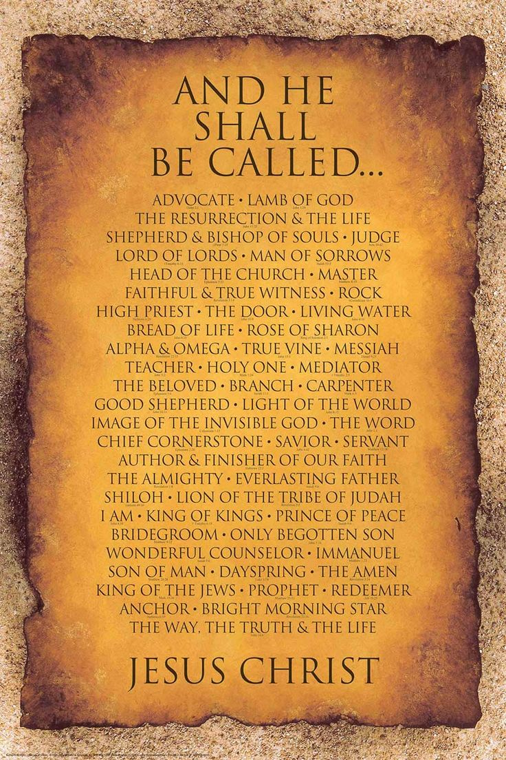 Names of Christ is Best Selling Christian Poster Over 1,300,000 copies of the Names of Christ Christian Poster are found in homes, Churches, dorm rooms, and even businesses.  Chances are, you've...