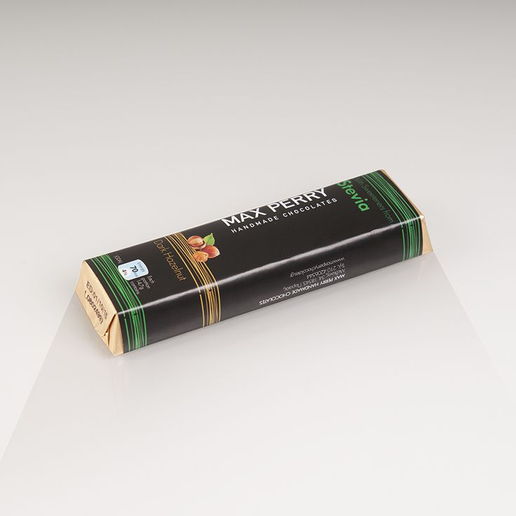 Σοκολάτα υγείας Stevia με κομμάτια φουντουκιού