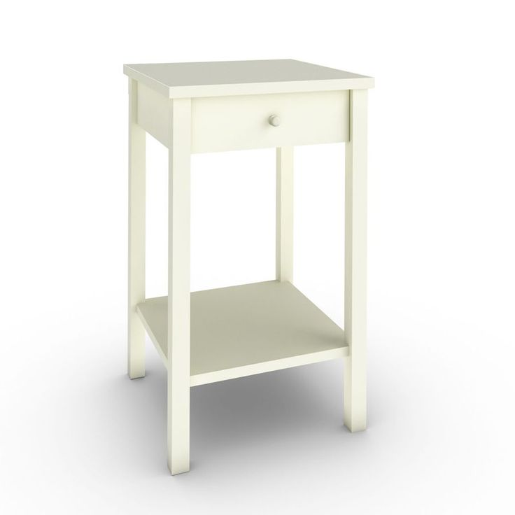 Sugar & Spice Bedside Table - White