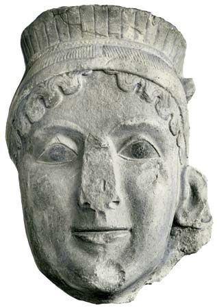 A sculpture head of Hera.  Photo:http://www.britannica.com/EBchecked/media/5899/Head-of-Hera-sculpture-from-the-votive-group-in-the