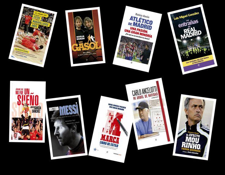 Ahora que estamos inmersos en pleno Mundial de Fútbol, con el Atlético de Madrid y el Real Madrid en pleno proceso de cambios, fichajes...y con el Mundial de Baloncesto en España preparado para septiembre, os ofrecemos una colección de libros especialmente dedicados a los amantes del deporte en general.