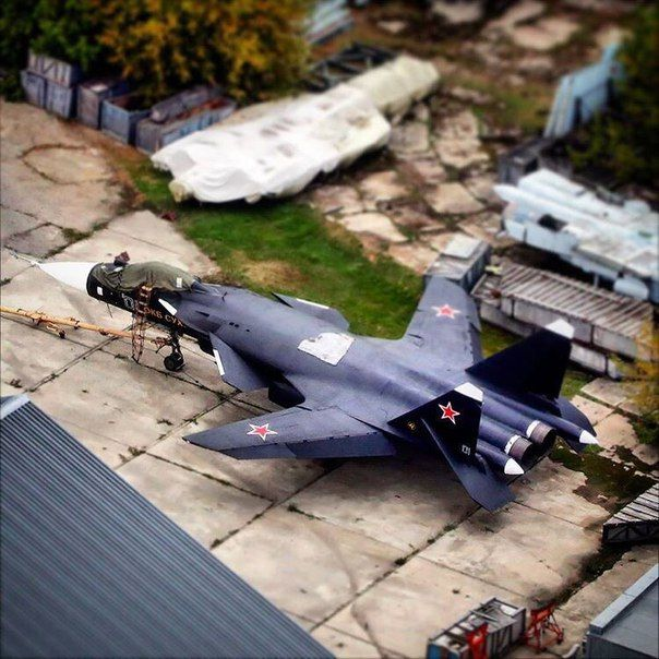 SU-47 in its final resting place. [604x604]