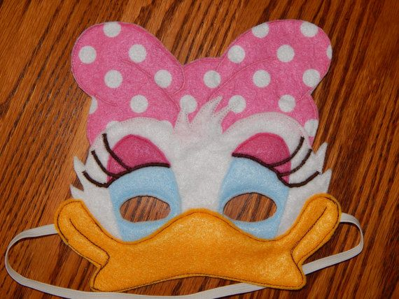 Daisy Duck or Webbigail Felt Mask. This listing is for 1 of the pictured masks…