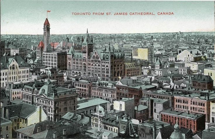 Toronto in 1905, from St James Cathedral, my home town.