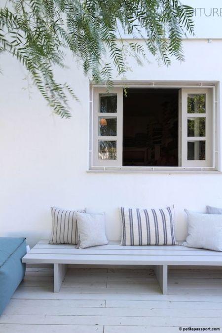 °°Une banquette simple et pas chère pour une terrasse ou un jardin°° : °°lejardindeclaire°°