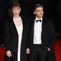 Poe Dameron and Elvira Lind attend the Star Wars: The Last Jedi European Premiere