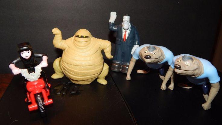 Mcdonalds Hotel Transylvania Figure toys Lot Murray, Frankie & Werewolf + Mavis #McDonalds