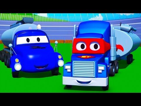 Carl The Super Truck And The Tanker In Car City Trucks Cartoon For