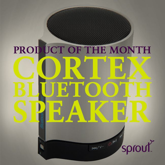 The Sprout Cortex Bluetooth Speaker is crafted from premium materials so it delivers both style and substance!  Pairing a deluxe brushed alloy finish with premium sound, this speaker will allow you to enjoy your favourite media anywhere you go!  This portable speaker connects via Bluetooth to any Bluetooth enabled device or by plugging directly to the audio port of your computer. #sprout #frreedomtogrow #mobile #mobilephone #tablet #phonecase #samsung #htc #iphone #apple #ipad #tablet