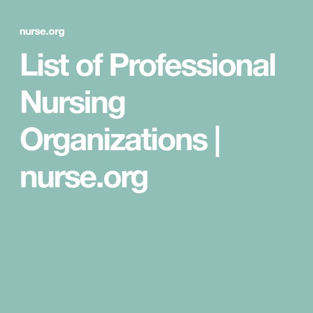 List of Professional Nursing Organizations   nurse.org