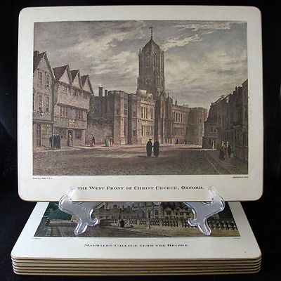 Pimpernel Placemats featuring England universities and landmarks | Can Do Collectibles