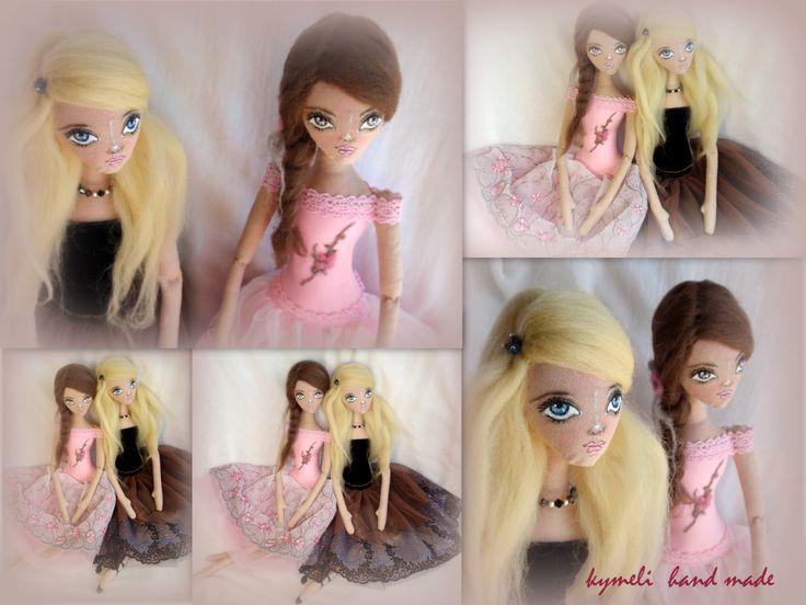 'Erofilli' and 'Danae' OOAK Art Dolls  Ballerinas by kymeli