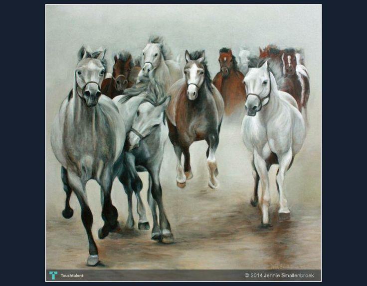 Running Arabian Horses #Creative #Art #Painting @touchtalent.com