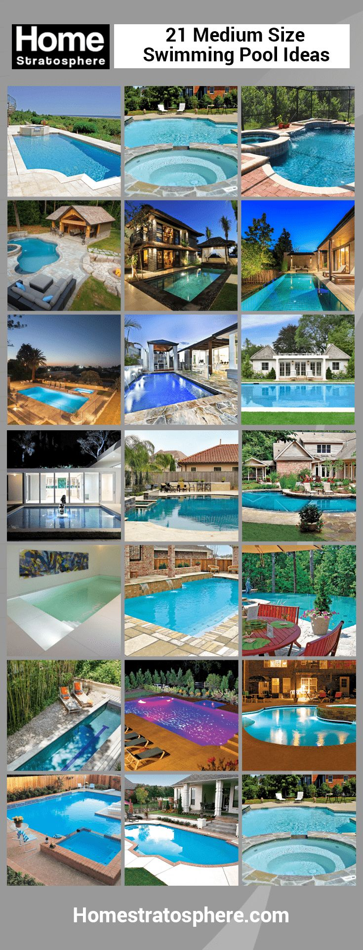 801 Swimming Pool Designs And Types For 2018. Medium Sized ...