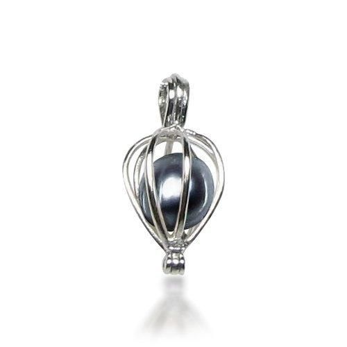 Bling Jewelry Sterling Silver Freshwater Peacock Pearl Cage Pendant