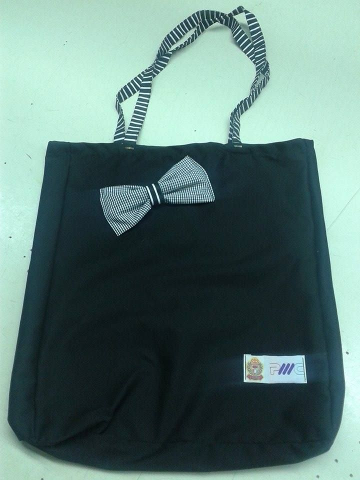 black bag for you with black and white details
