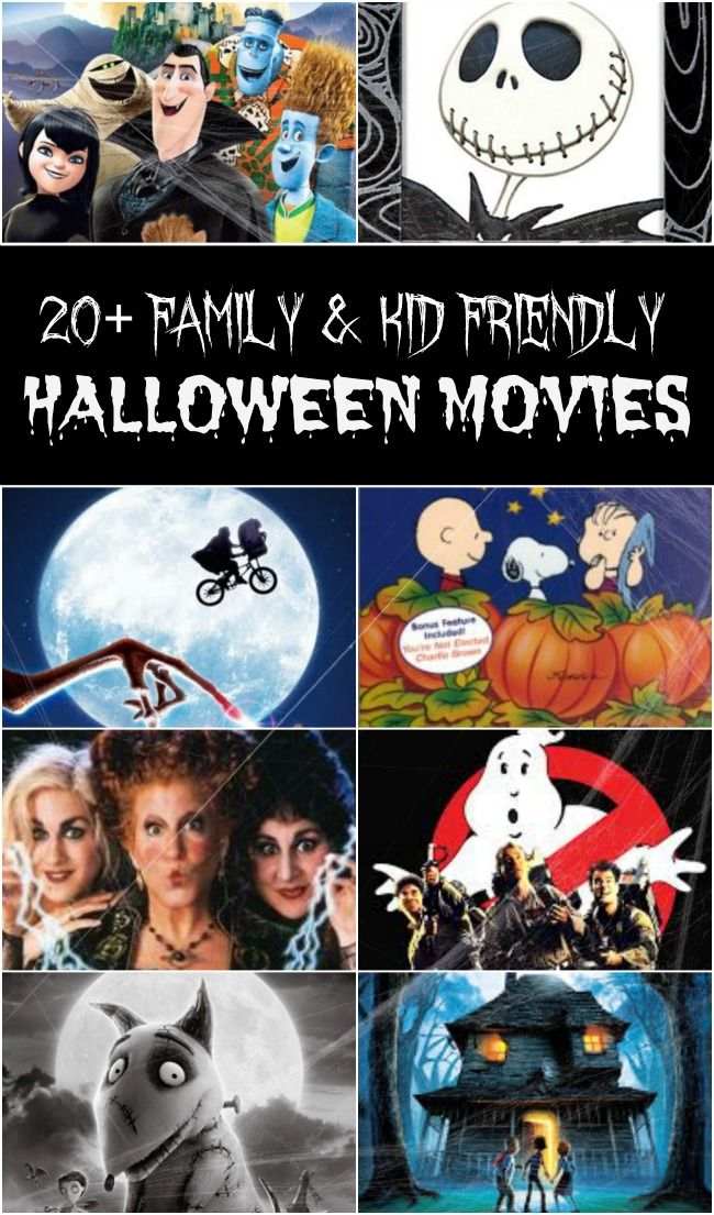 Enjoy a Halloween movie Marathon with these scary movies (that aren't too scary). Perfect to set the Halloween mood for the entire family.