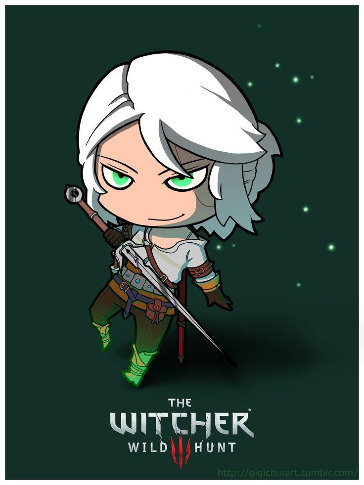 #Chibi #Ciri  #witcher #witcher3 #fanart #witcher3wildhunt