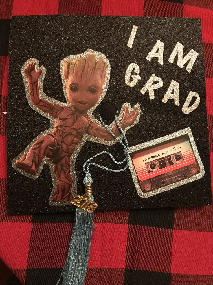 Graduation #cap #decoration #groot #guardians #of #the